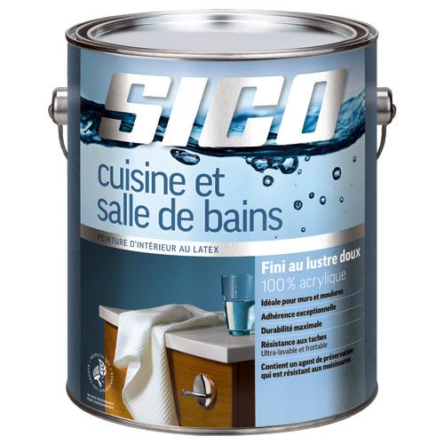 Sico peinture latex acrylique cuisine et salle de bain for Reno depot salle de bain