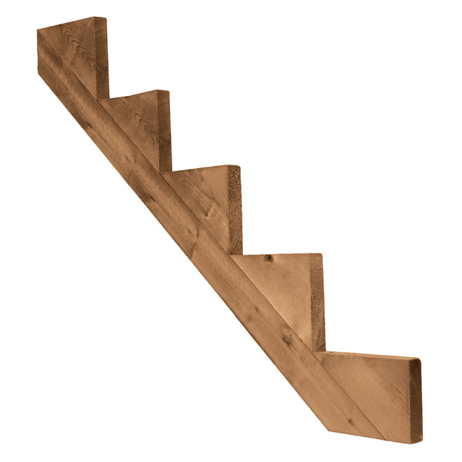 Pressure Treated Wood 5-Step Stair Stringer