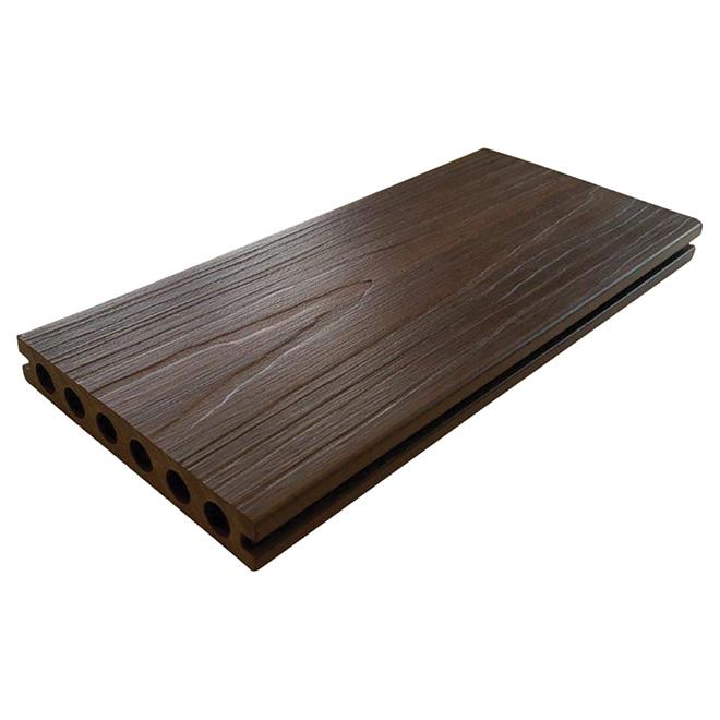 leadvision planche pour terrasse 12 39 composite noyer r no d p t. Black Bedroom Furniture Sets. Home Design Ideas