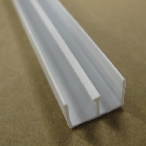 """Top"" PVC Finishing Moulding 1/4"" x 8' - White"
