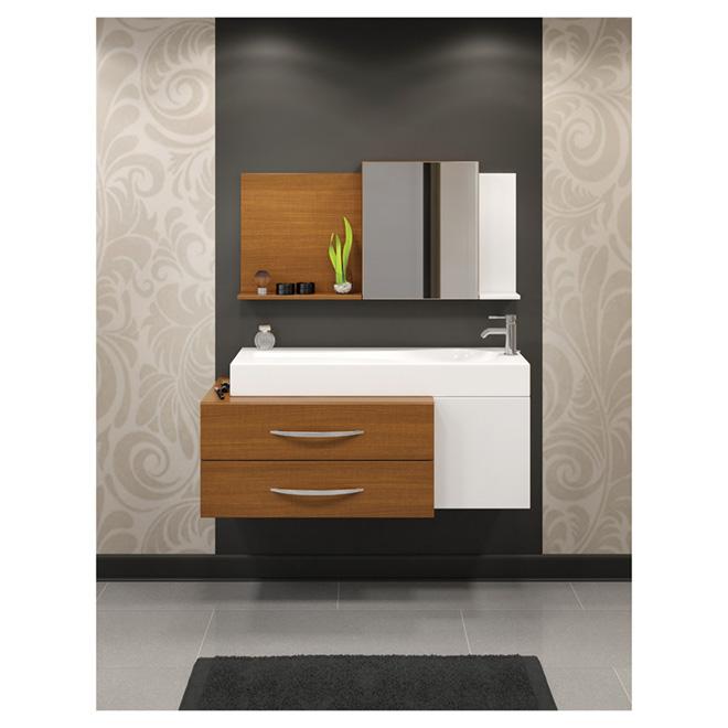 Meuble lavabo rona great toilette pces cuve allonge ez for Armoire salle de bain rona