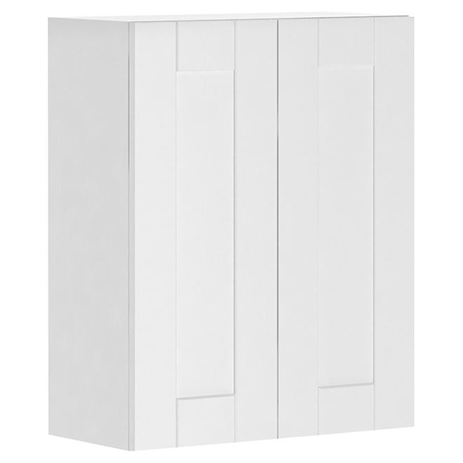 Armoire de cuisine 2 portes chic urbain blanc for Armoire cuisine liquidation
