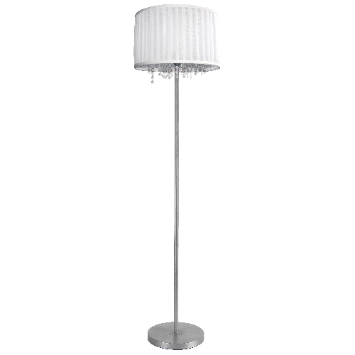 "Lampe sur pied 60"", nickel satiné"