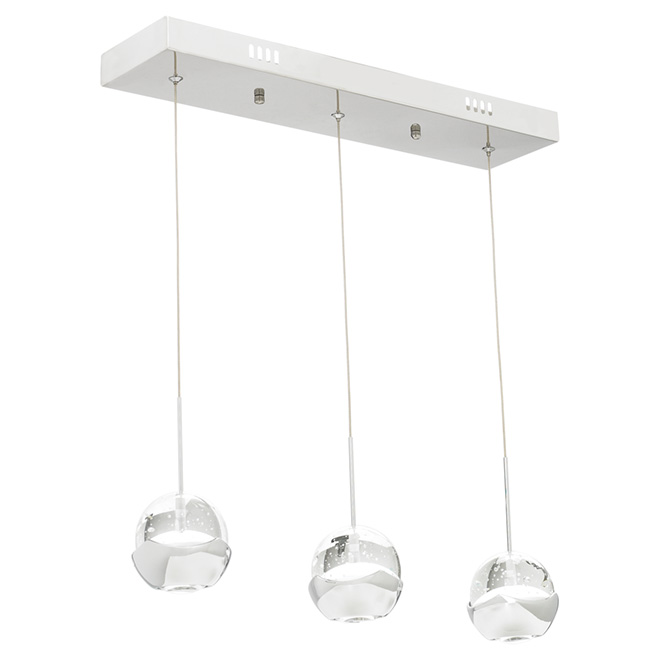 """Delh"" LED 3-Light Pendant Light - 60"""