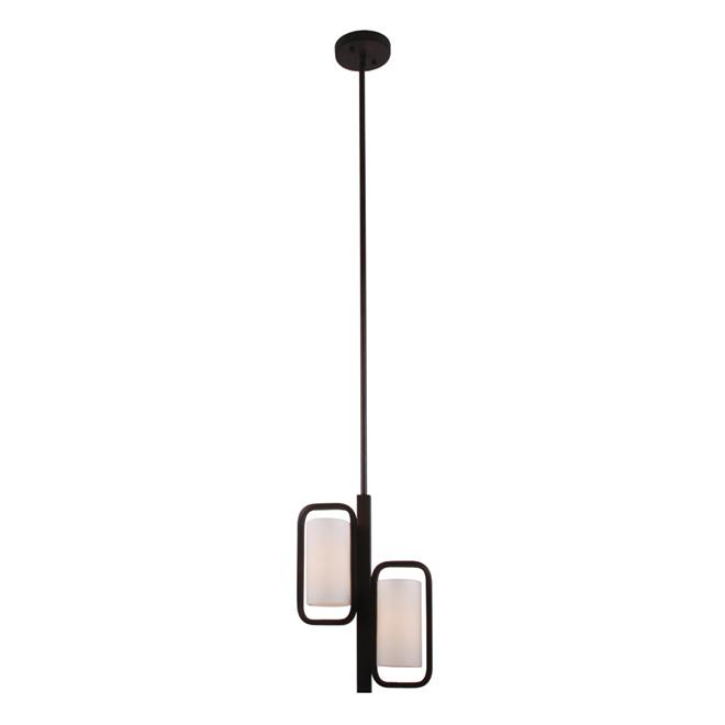 lumirama mc luminaire suspendu 2 lumi res aria 50 po r no d p t. Black Bedroom Furniture Sets. Home Design Ideas
