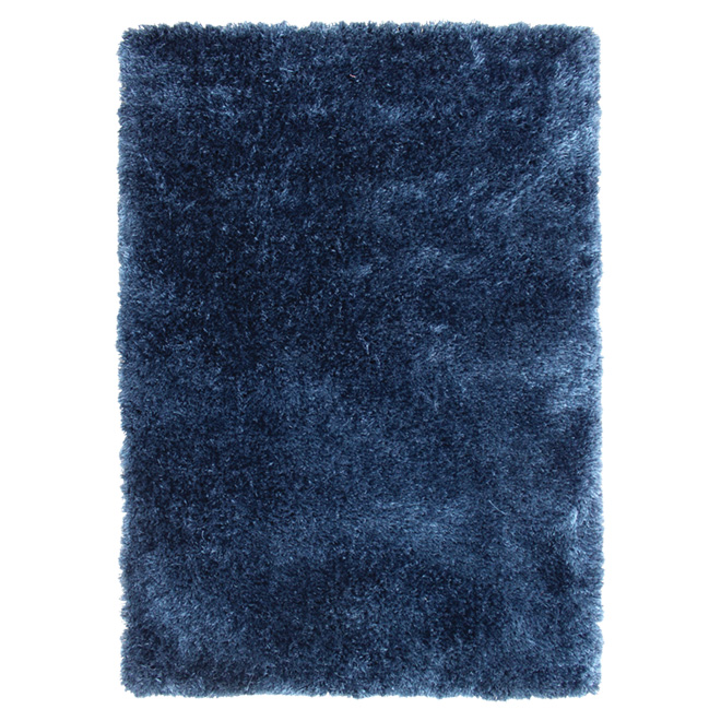 """Jazz"" Area Rug 4' x 5' - Navy Blue"