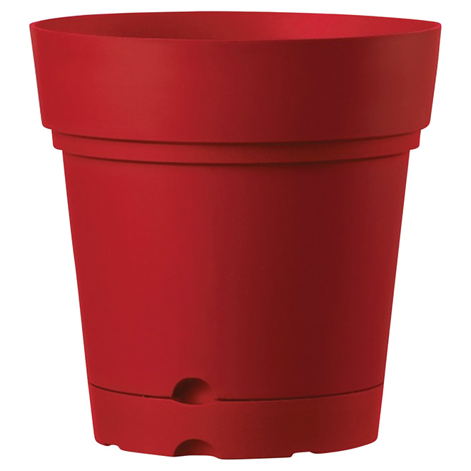 "Planter Pot with Saucer - 8.6"" - Red"