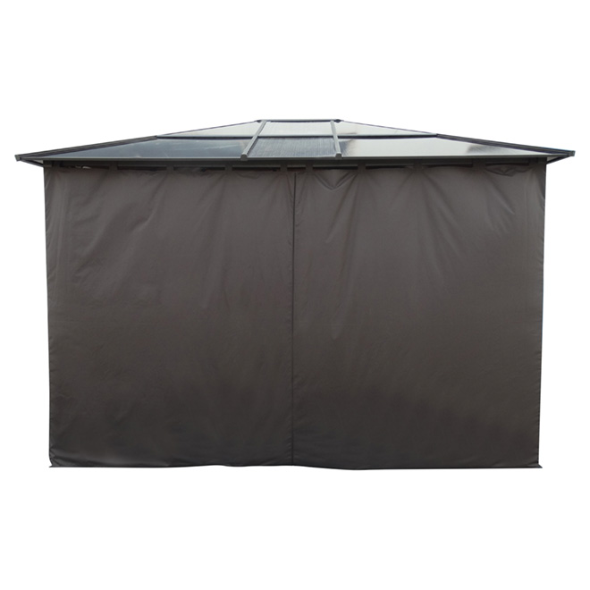 10' x 12' Sun Shelter Curtain - Dark Brown