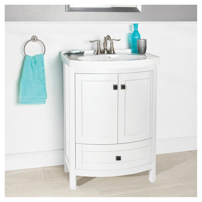 Foremost meuble lavabo tallia 2 portes et 1 tiroir for Liquidation meuble lavabo