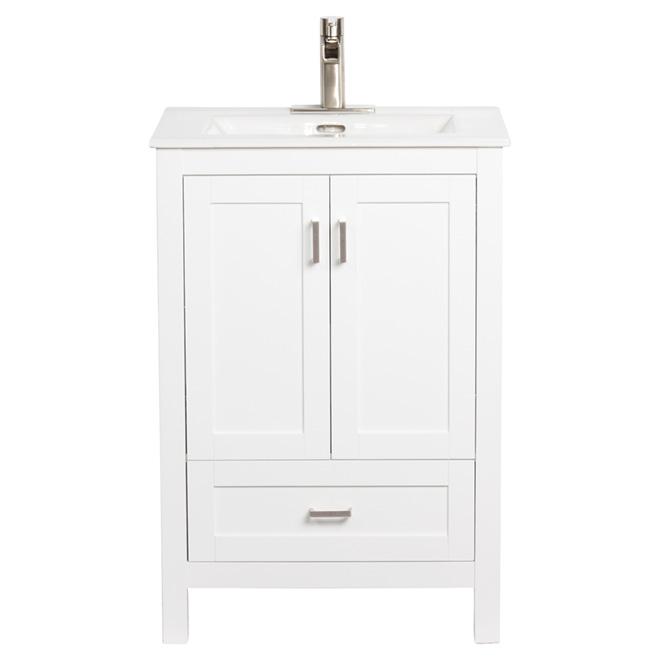 Foremost meuble lavabo avec 2 portes et 1 tiroir 24 for Meuble canadian tire