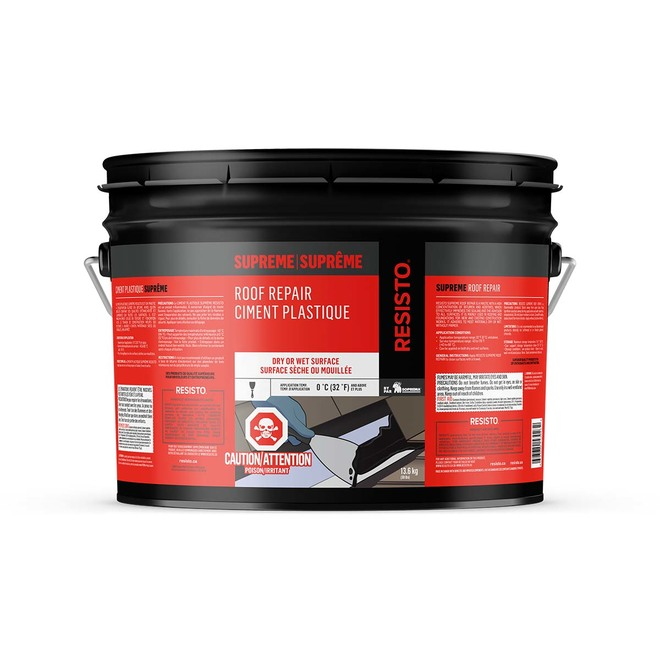 Ultra Plastic Cement for All Surfaces - 13.6 kg - Black