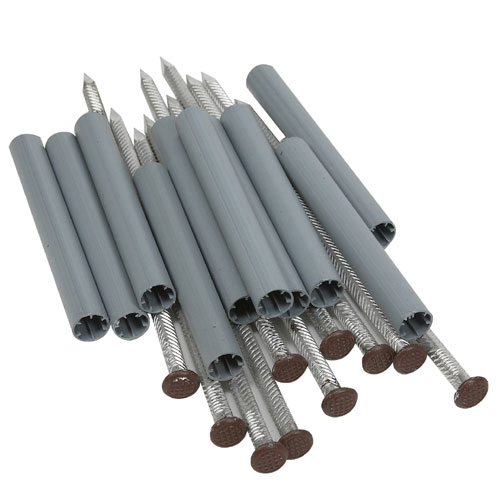 Aluminium Spikes and Ferrules Set - Brown