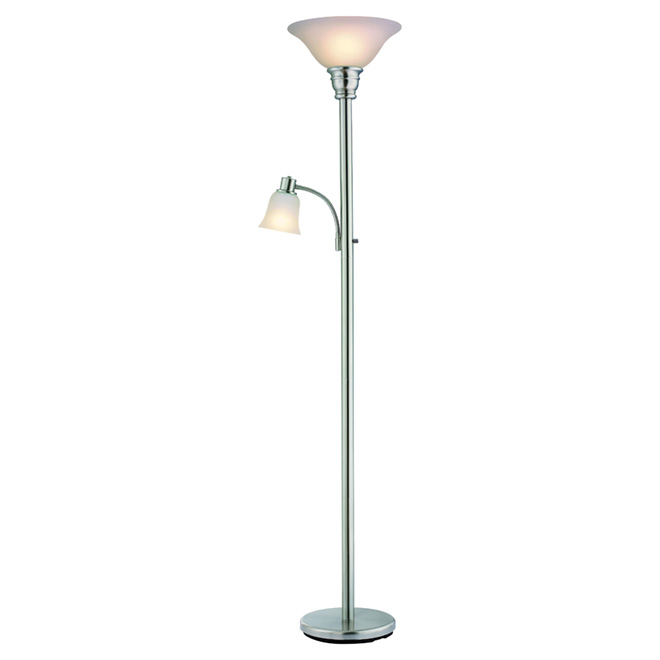 Catalina lampe torch re et lampe de lecture 71 acier for Lampe de table rona