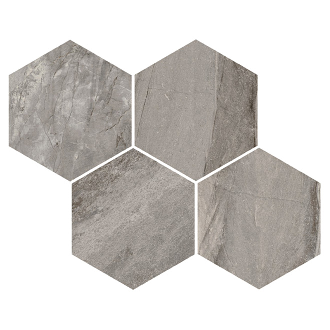 Hexagonal Mosaic Porcelain Tile - 12 Box