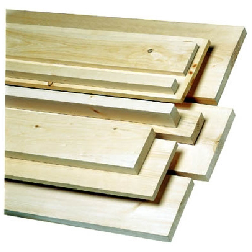 Knotty White Pine Board 1 in x 5 in x 6 ft