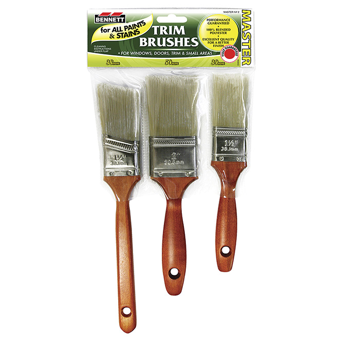 Set of 3 Trimming Paintbrushes