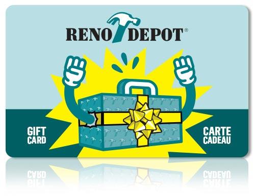 Achetez vos cartes-cadeaux Réno-Dépôt | Réno-Dépôt